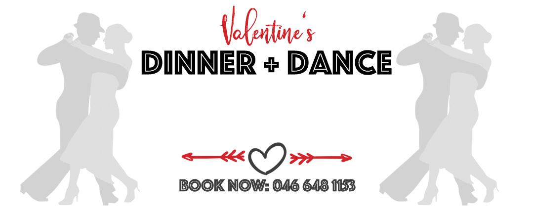Valentine's Dinner & Dance – BOOK NOW